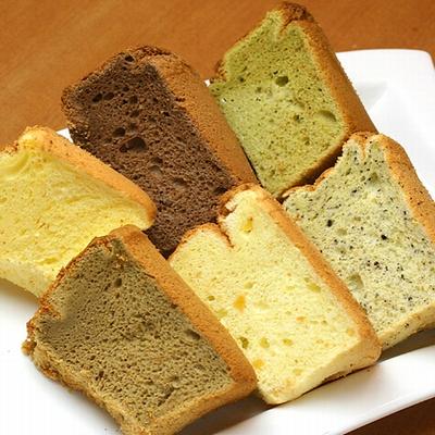 米粉100%シフォンケーキ6種類